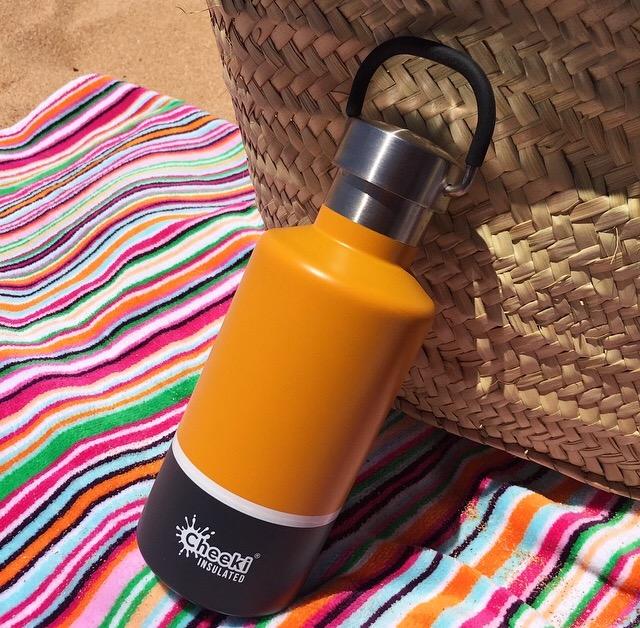 Cheeki Insulated Sunshine Grey Stainless Steel Water Bottle