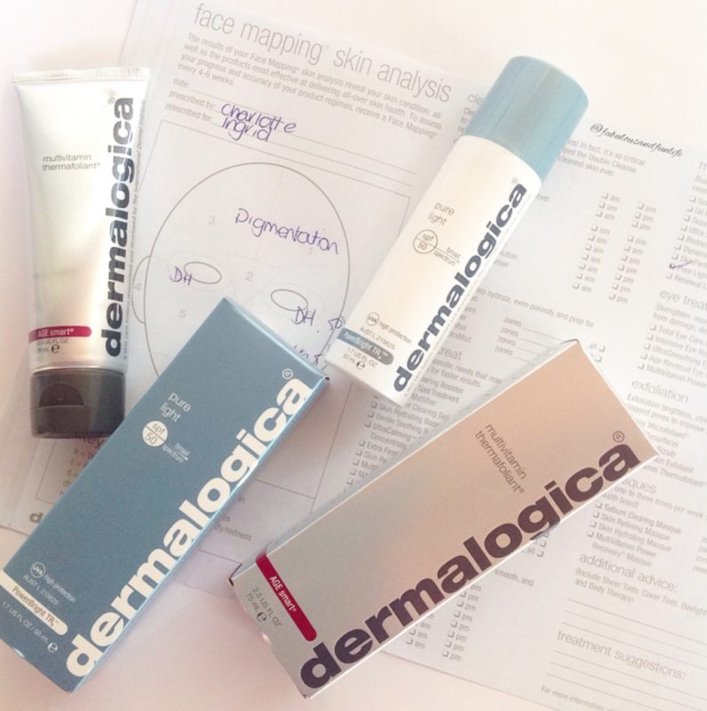 Dermalogica Face Mapping Chart & Skin Care Products