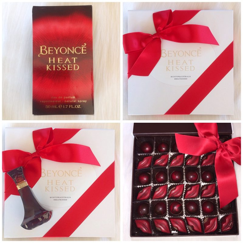 Beyonce Heat Kissed Fragrance  and ChocolArts Chilli Chocolate Kisses