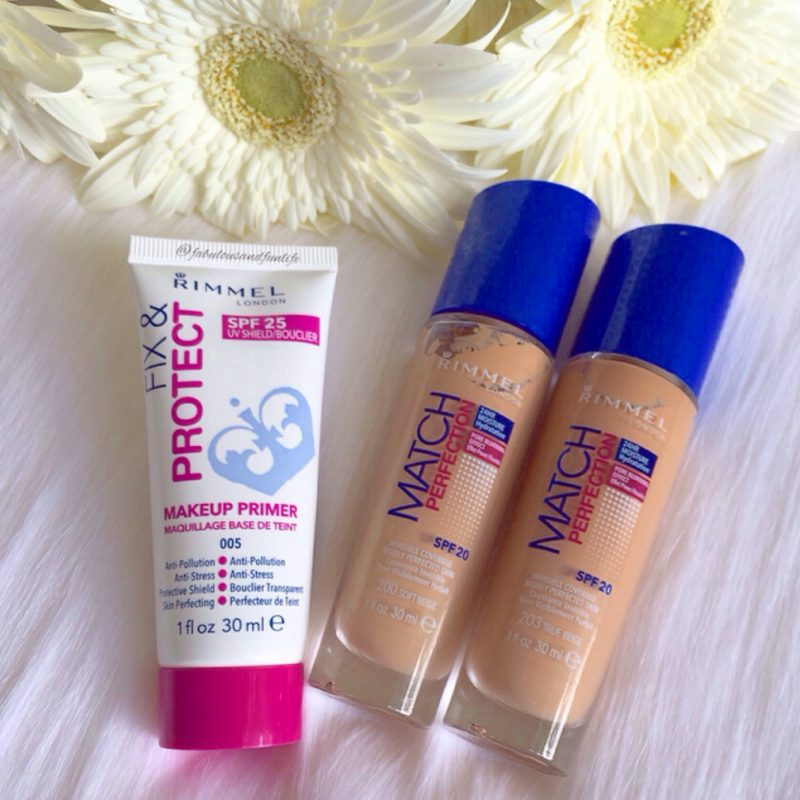 Rimmel Fix and Protect Primer and Rimmel Match Perfection Foundation