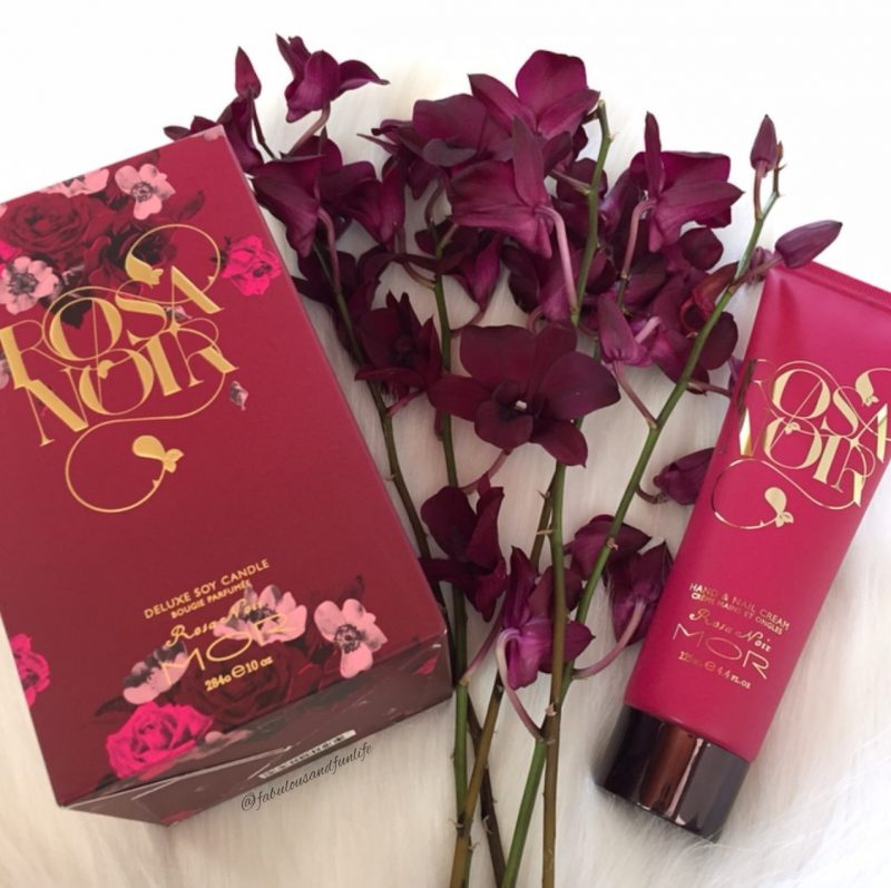MOR Rosa Noir Deluxe Soy Candle and Hand & Nail Cream