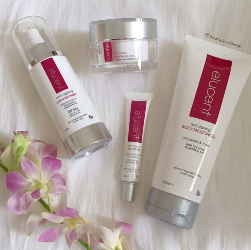 Elucent Anti Ageing Day Moisturiser, Night Moisturiser, Eye Cream & Body Moisturiser