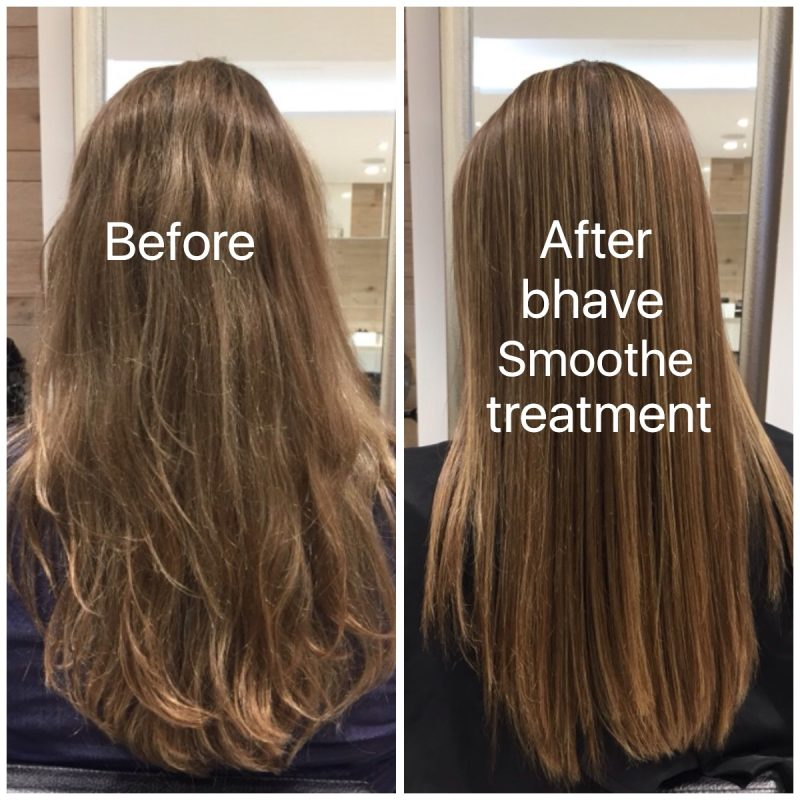 Before and After bhave Smoothe Treatment