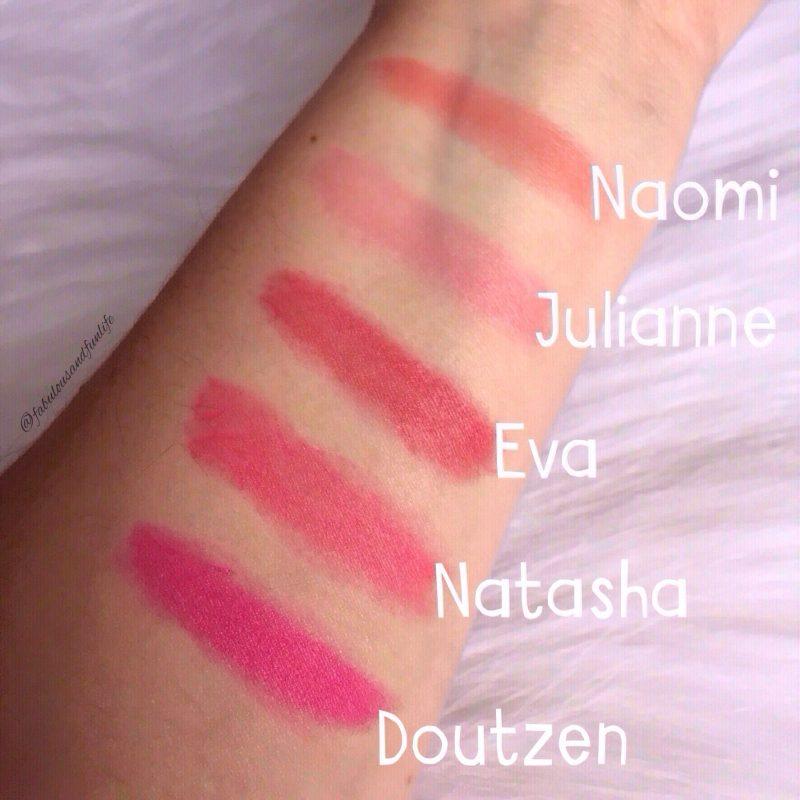 L'Oreal Paris Colour Riche la vie en rose Collection Exclusive Lipstick Swatches