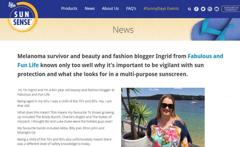 Sharing My Story On The SunSense Website