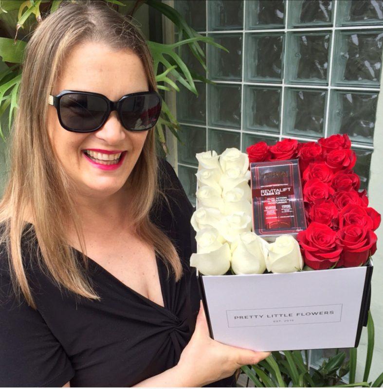 L'Oreal Paris Revitalift Laser X3 Dual Action Moisturiser & Pretty Little Flowers Roses Box