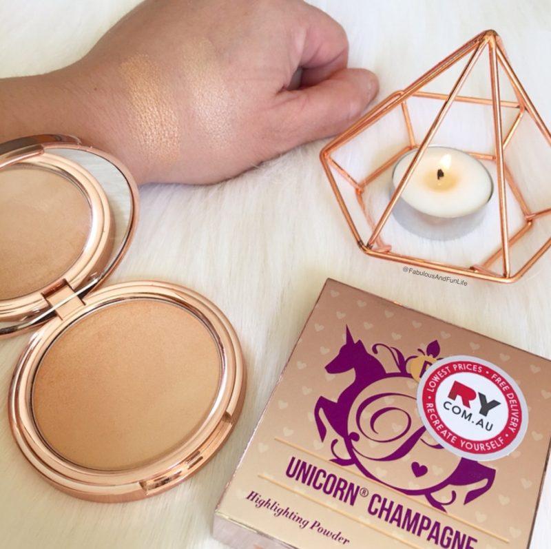 Poni Cosmetics Unicorn Champagne Highlighting Powder Swatches