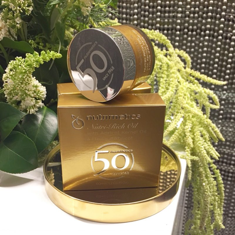 Nutrimetics Nutri-Rich Oil in its 50th Anniversary Packaging