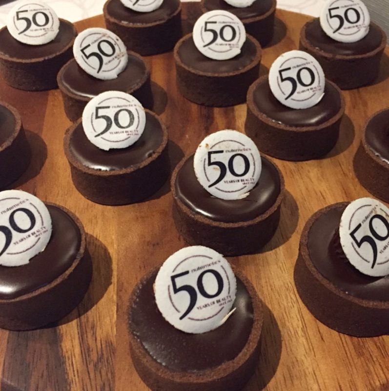 Nutrimetics 50th Anniversary Mini Chocolate Caramel Tarts