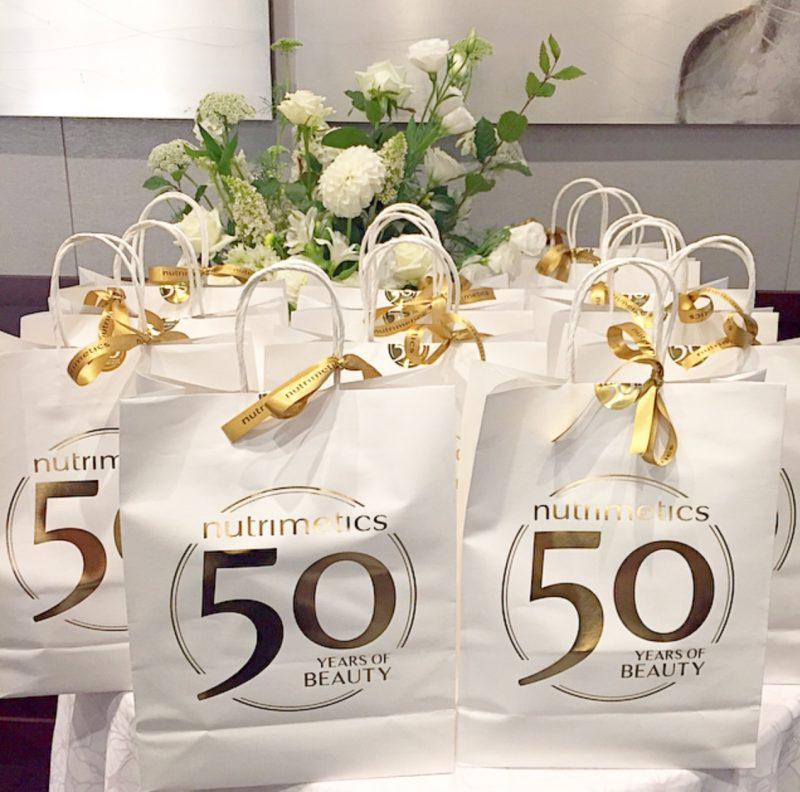 Nutrimetics 50 Years Of Beauty Media Event Goodie Bags