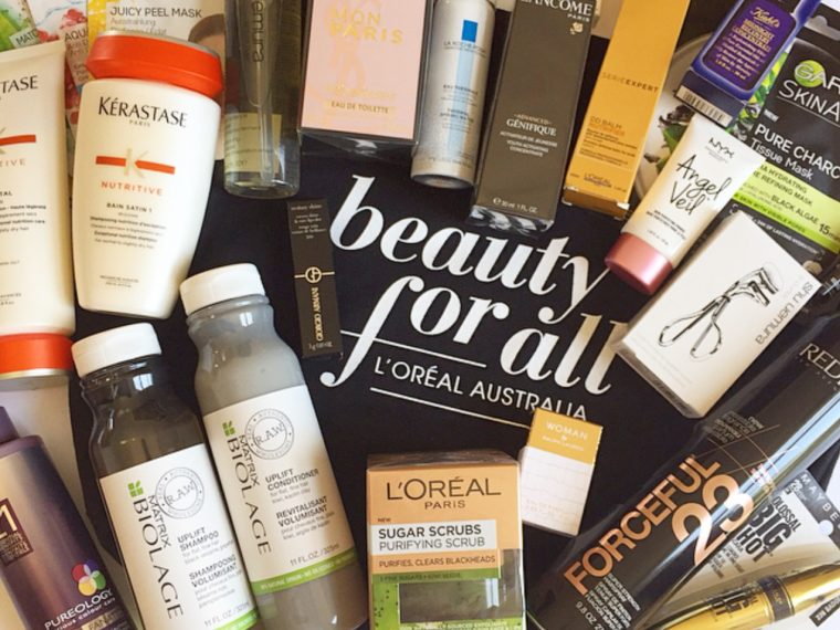 L'Oreal Australia #BeautyForAll Event Goodie Bag Contents