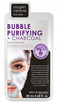 Skin Republic Bubble Purifying + Charcoal Mask