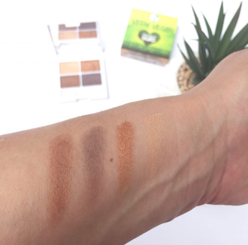W7 Very Vegan Eyeshadow Quad in Autumn Amber Swatches
