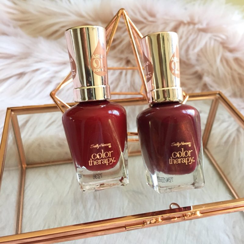 Sally Hansen Color Therapy Nail Polishes: 370Unwine'd & 372 Wine Therapy