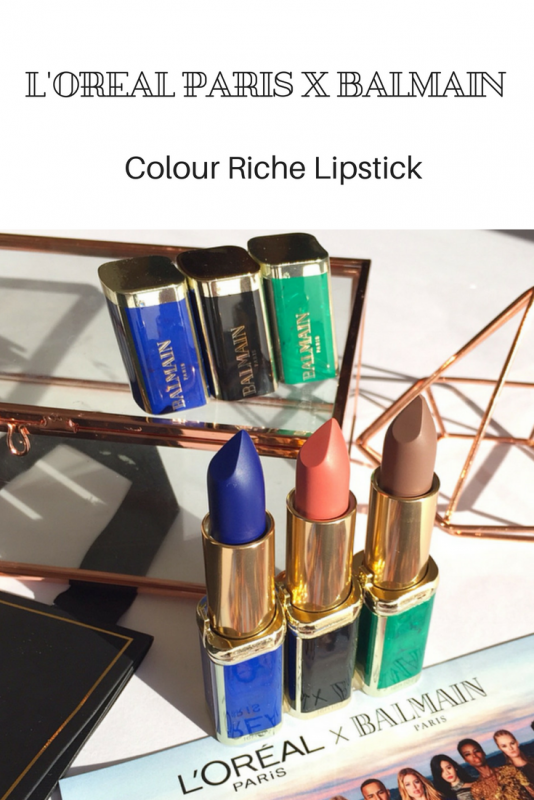 L'Oreal Paris x Balmain Colour Riche Lipstick
