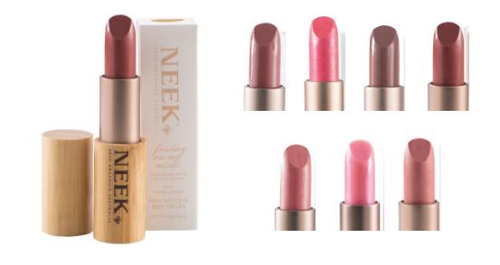 NEEK Skin Organics 100% Natural Vegan Lipstick Range