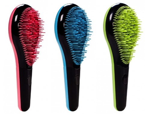 Michel Mercier Detangling Brushes For Fine Hair (Red), Thick Hair (Blue) & Normal Hair (Green)