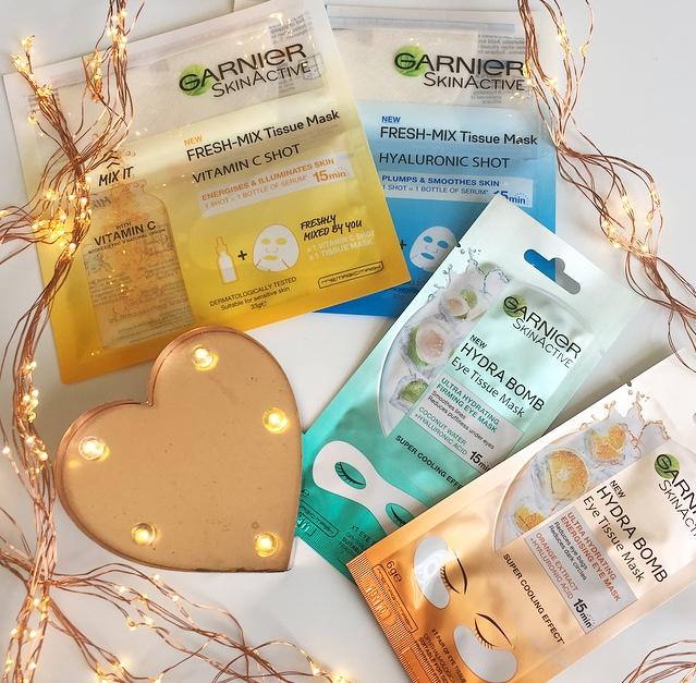 Garnier Skin Active Fresh Mix Tissue Masks & Hydra Bomb Eye Tissue Masks