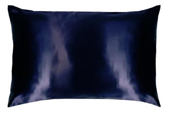 Slip Navy Silk Pillowcase