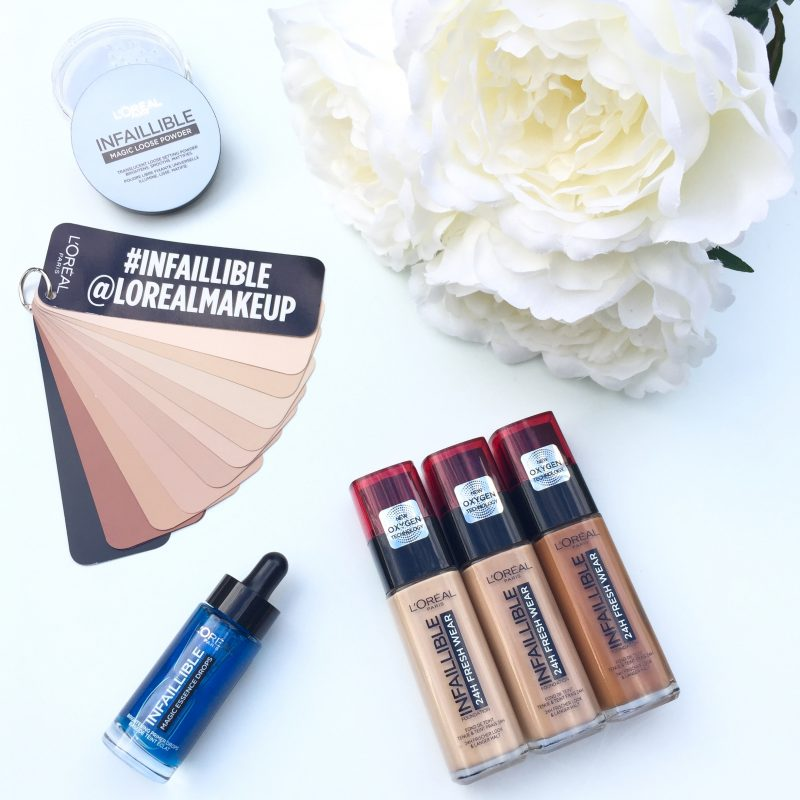 L'Oreal Infallible Magic Essence Drops, Infallible Foundation & Infallible Magic Loose Powder