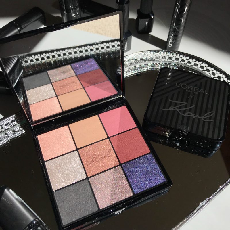 L'Oreal x Karl Lagerfeld Eyeshadow Palette Review
