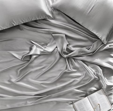 Home Republic Silk Sheet Set in Silver
