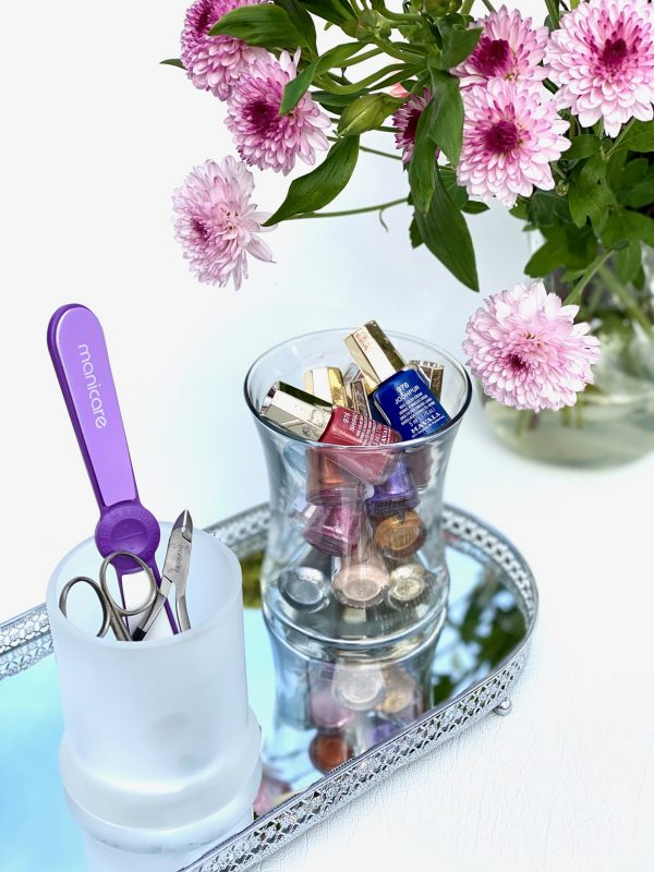 Uses For Empty Candle Jars - Manicure Accessories