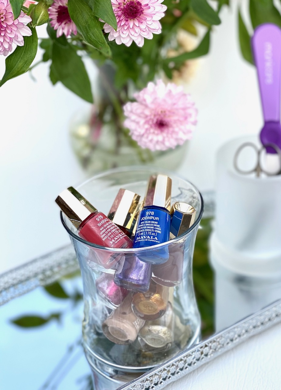 Uses For Empty Candle Jars - Nail Polish Storage