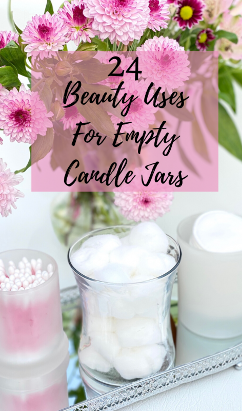 Beauty Storage Uses For Empty Candle Jars - Cotton Wool