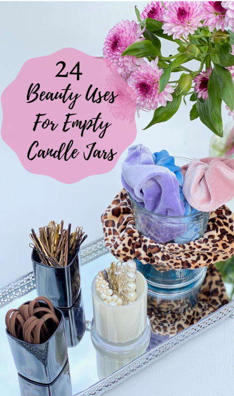 Empty Candle Jar Use - Hair Accessories Storage